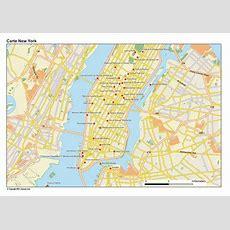 Carte De New York City, Plan Des 90 Principaux Lieux
