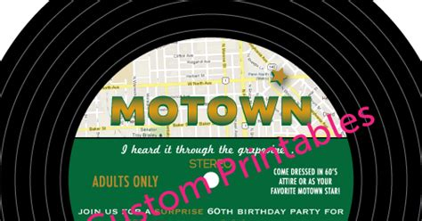 custom printables motown party invitation