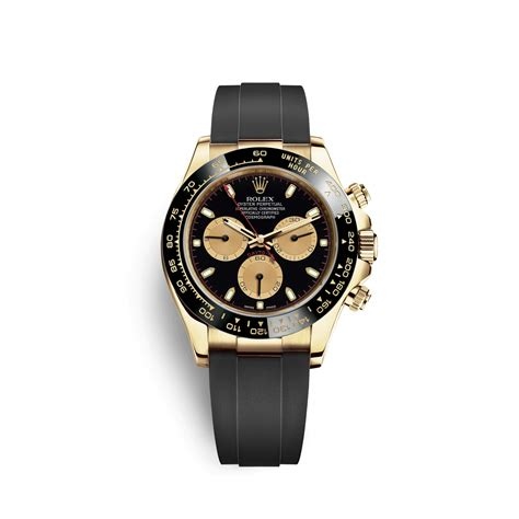 Rolex Cosmograph Daytona Black and Champagne Dial 18k ...