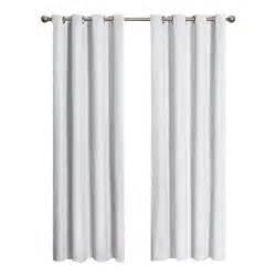 eclipse cassidy blackout white polyester grommet curtain panel 95 in length 12423052095whi