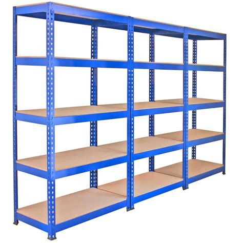 3 X Q Rax Racking Blue 90 X 50 X 180cm 2 X Racking Blue