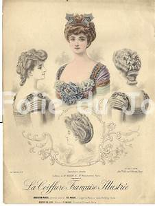 Antique French edwardian Belle Epoque hairstyles fashion ...
