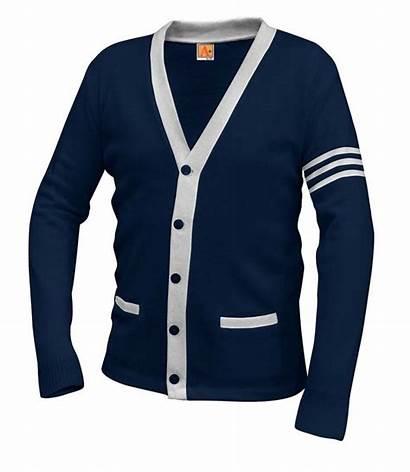 Varsity Cardigan Sweater Apparel Navy Sacred Heart