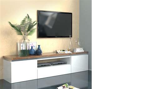 cevelle com meuble tv bois et blanc pas cher