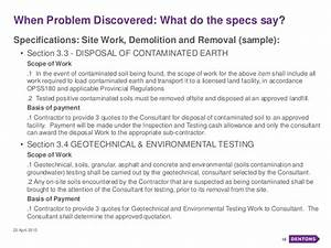 Environmental seminar managing environmental issues in for Demolition scope of work template