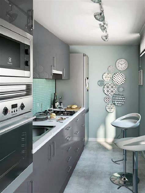 cocinas en linea horizontal  areas pequenas  como