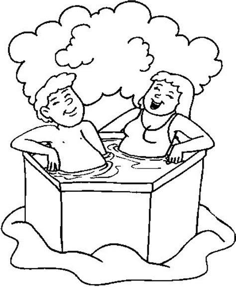 mewarnai anak mandi