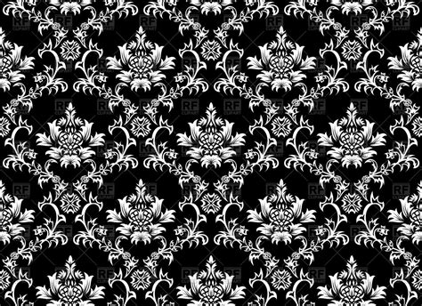 vintage black wallpaper  victorian style vector image