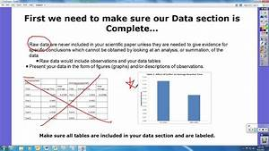 Data And Results Section