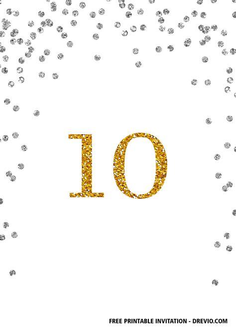 FREE Printable 10th Birthday Invitation Templates DREVIO