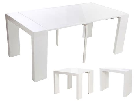 table blanc laque extensible maison design foofaq