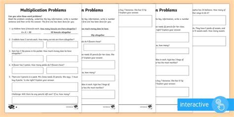 year 2 maths multiplication word problems homework worksheet year 2 maths
