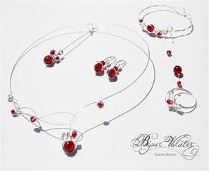 collier et bijoux rouges pour le mariage bijoux volutes With bijoux mariage rouge