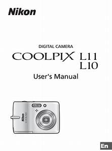 Nikon Coolpix L11 Manual  Camera Owner User Guide And