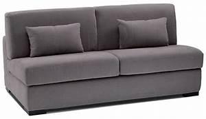 canape lit perry canap lit quotidien tissu pas cher With canapé lit quotidien pas cher