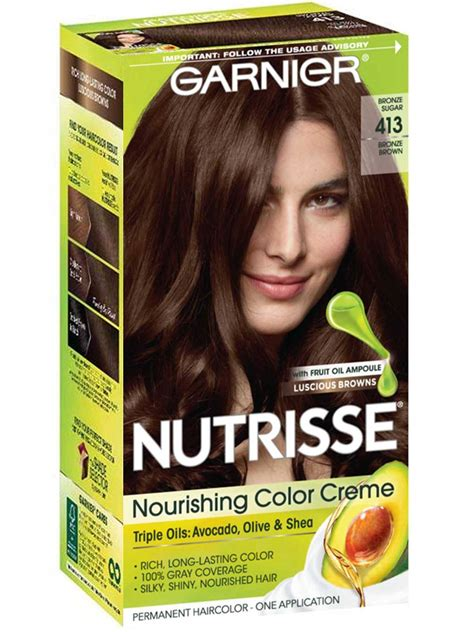 nutrisse nourishing color creme bronze brown garnier