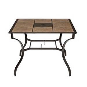 northcrest bellevue 40 quot square tile top dining table shopko