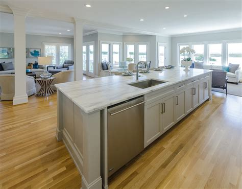 kitchen islands on transitional renovation on the waterway transitional 5262