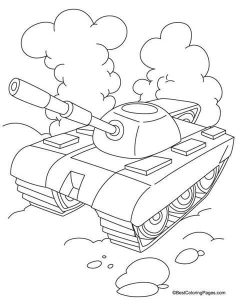 tank  cloud coloring page   tank