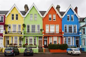 colourful houses Decorator's Notebook blog
