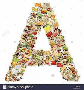 letter a uppercase font shape alphabet collage stock photo With letter collage