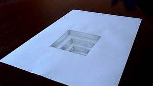 The Original Amazing 3D Hole In Paper Drawing Timelapse ...