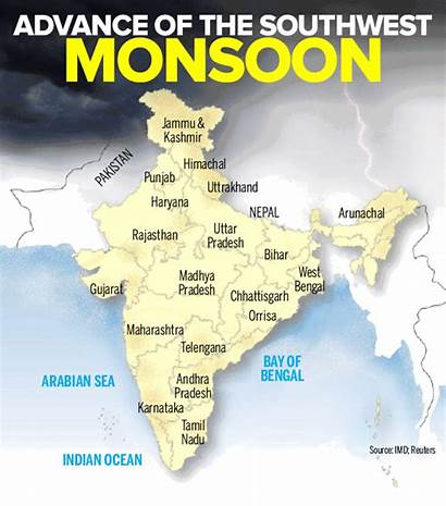 Monsoon India Regions English Times Infographic Timesofindia