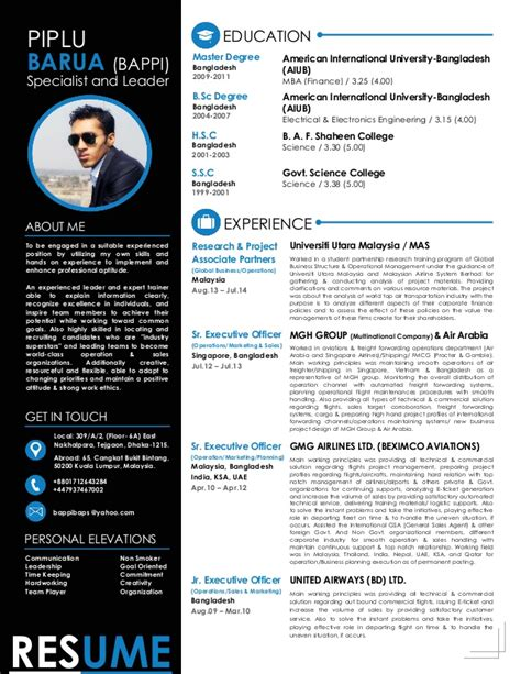 What Does Continue With System Resume by Piplu Barua Bappi Modern Resume System