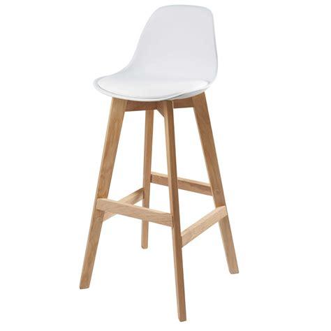 chaise de bar chaise de bar scandinave blanche maisons du monde