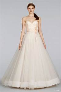 lazaro spring 2014 wedding dresses wedding inspirasi With blush ball gown wedding dress