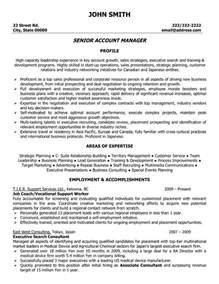 sales account manager resume templates senior account manager resume template premium resume sles exle