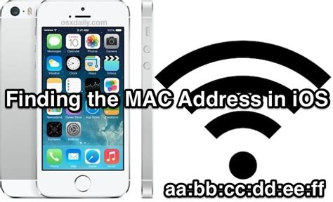 how to find iphone on mac find the iphone mac address