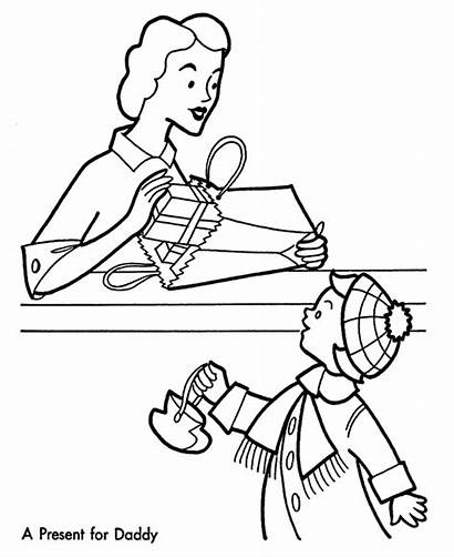 Shopping Coloring Pages Christmas Sheet Clipart Sheets