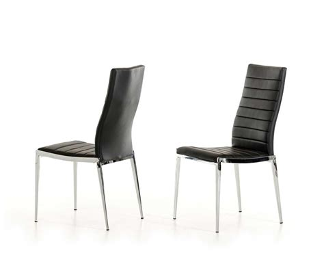 leatherette black dining chair vg 195 modern chairs