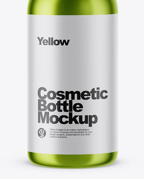 Posted in photoshop » banner & mockup template. Metallic Сosmetic Bottle Mockup in Bottle Mockups on ...
