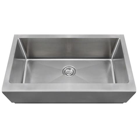 single bowl apron front sink polaris sinks farmhouse apron front stainless steel 33 in