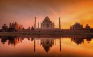 Taj Mahal India Sunset