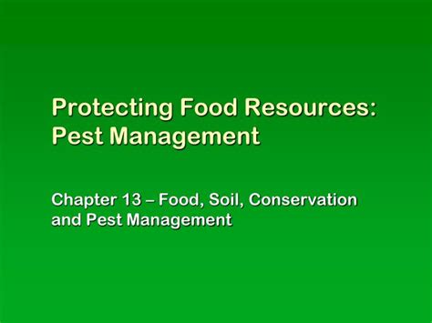 id s am agement cuisine ppt protecting food resources pest management