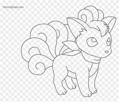 Vulpix Coloring Pokemon Pages Alola Vibrant Clipart