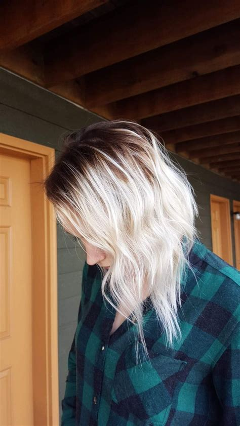 platinum blonde ombre hair pinterest  hair