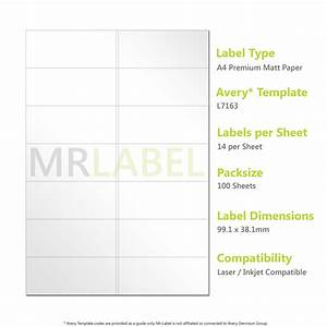 avery compatible a4 self adhesive labels l7163 j8163 14 With avery 14 labels per sheet template