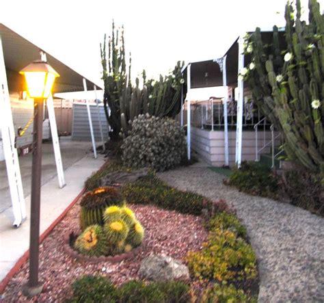 cactus garden in mobile home park garden and gardening