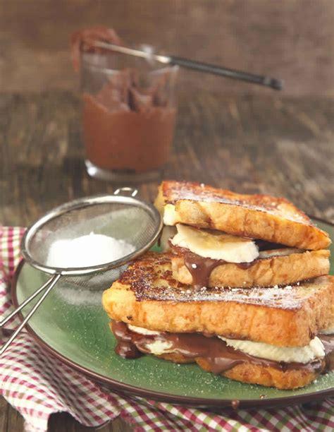 cuisine et santé sandwich de perdu au nutella et banane cuisine santé