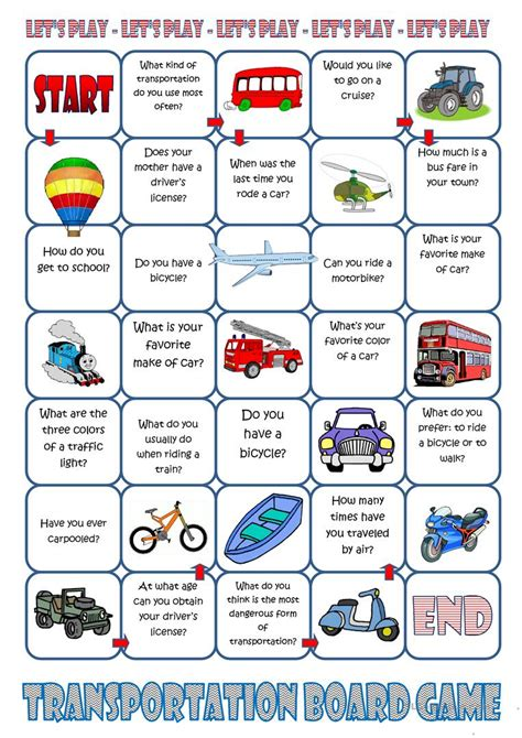 how can i learn to work on cars 2013 ford fusion parking system transportation board game worksheet free esl printable worksheets made by teachers