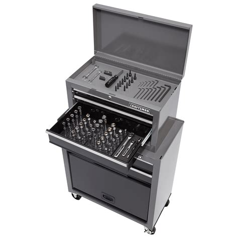 craftsman 5 drawer rolling tool box craftsman 5 drawer tool center with 108 pc mechanics tool set