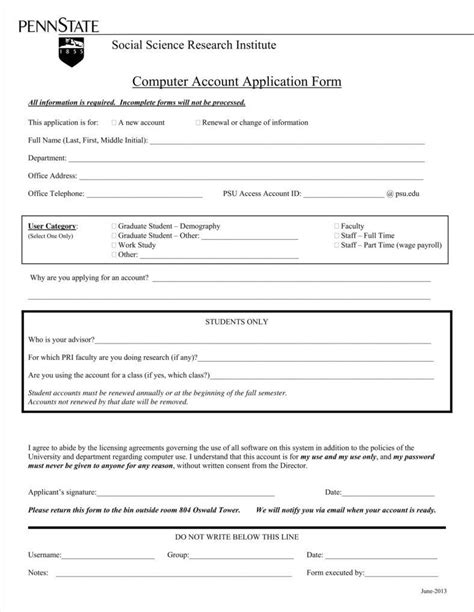 New Account Application Form Template by 9 Account Application Form Templates Free Pdf Format