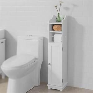 Toilettenpapierhalter Stehend Design : sobuy freistehend wei toilettenrollenhalter badregal standschrank frg177 w ebay ~ A.2002-acura-tl-radio.info Haus und Dekorationen