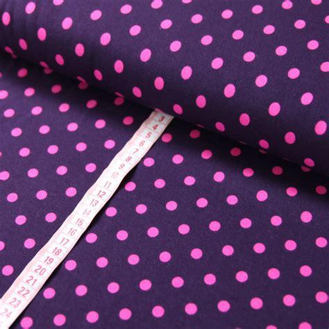 jersey stoff lila dots pink polka punkte guenstig kaufen
