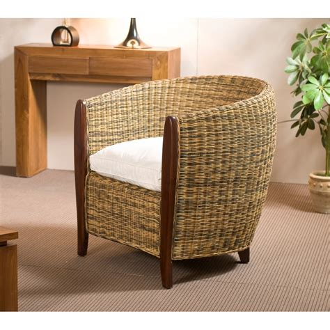 cabriolet rotin avec coussin meubles macabane meubles