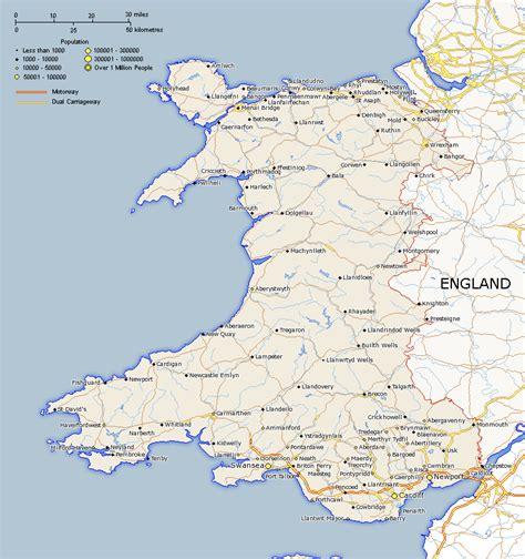 wales map uk maps